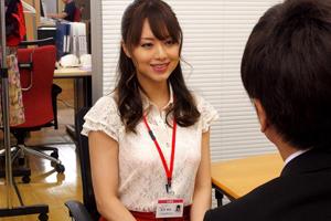 【吉沢明歩】美人OLが下着モデルになる社員のチ○ポをヌキまくる!