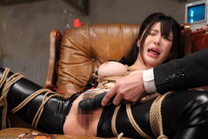 【辻井ほのか】全身縛られて電流イカセ拷問!組織ボスに完全服従の陥落エッチ!
